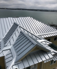 A regular metal roof with no hail damage that does not belong here.