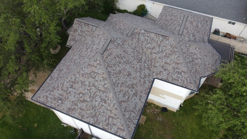 Brown class 4 impact resistant shingles.